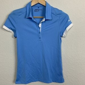 Nike Woman Top Sport Short Sleeve Blue Sz: S